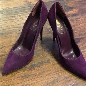 Yves Saint Laurent Purple Heels Size US 11